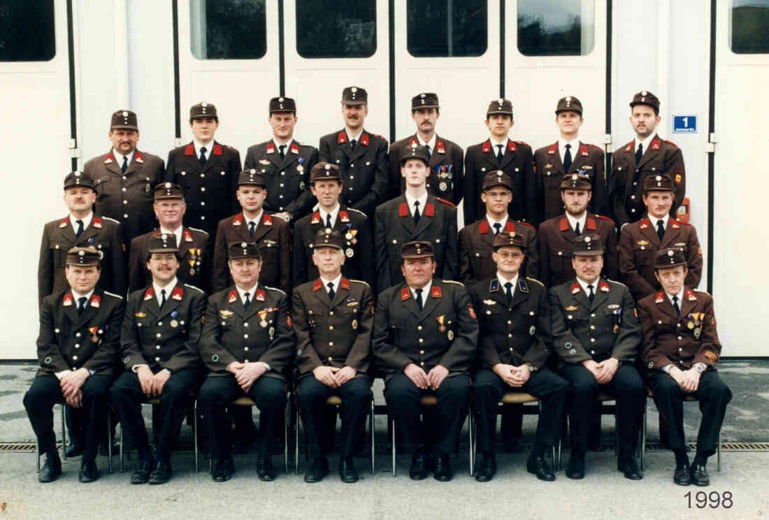 Stützpunktfeuerwehr Oberschützen 1998, Kdt Karl Kainz