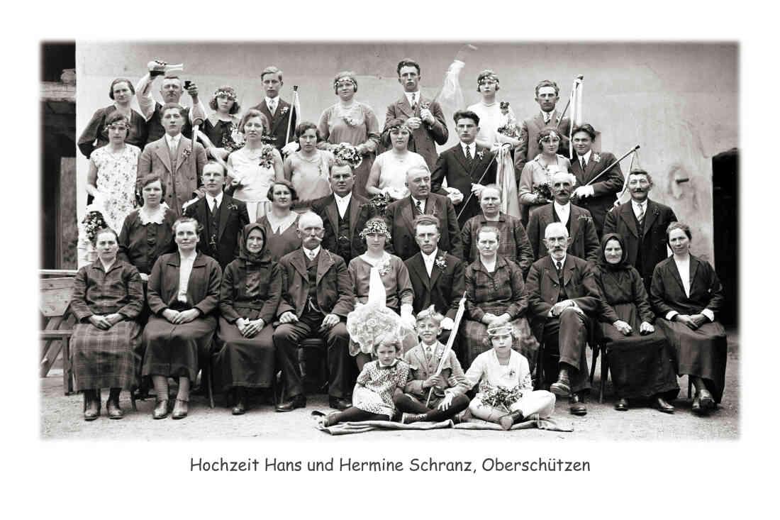 Hochzeit von Hans und Hermine Schranz in Oberschützen